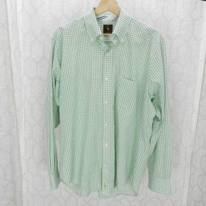TailorByrd Sz XL Green Check Long Sleeve Shirt